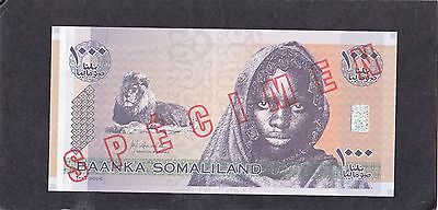 1 Notes Somalia Specimen 1000 Shillings Gem *
