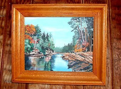 Landscaper painting, oil on canvas, original and signed
