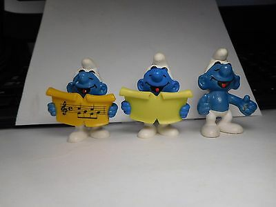 █  SINGER Smurf  2.0038  IN ALL THREE VERSIONS!!!  VHTF Together!   ^,,^