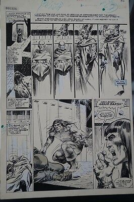 Savage Sword of Conan original art by Neal Adams and the Tribe: Issue 14 Page 40