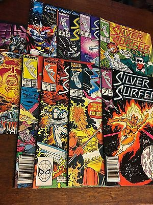 Comic Book - Marvel Comics -Silver Surfer 9 issues volume 1 lot collection