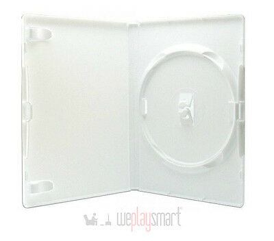 50 X White DVD, Nintendo Wii Replacement Case 14mm (NEW, Hold 1 Disc)
