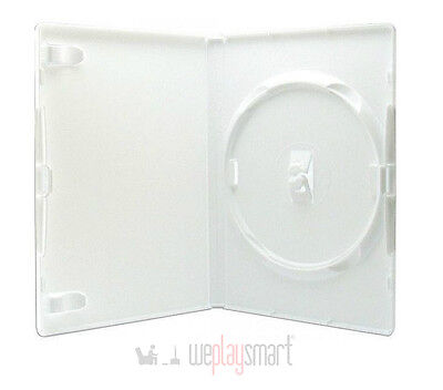 100 X White DVD, Nintendo Wii Replacement Case 14mm (NEW, Hold 1 Disc)