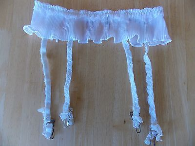 Women's Vintage Lily of France 2931 white garter belt Size S Small Made in USA