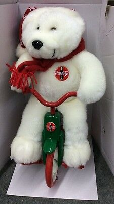 Coca Cola Animated Series Polar Bear On A Tricycle Bike NEW In Box Coke