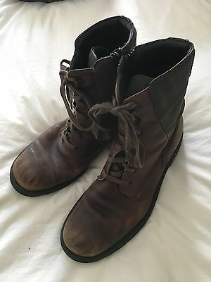 KENNETH COLE Men's Brown Leather Boots Size 11M