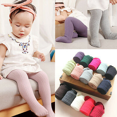 Toddler Baby Girls Cotton Tight Socks Stocking Hosiery Pantyhose 0-6Y 6Colors