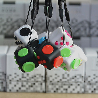 6-side Magic Fidget Cube Anti-anxiety Adults Focus Stress Relief Kids Toy Gift