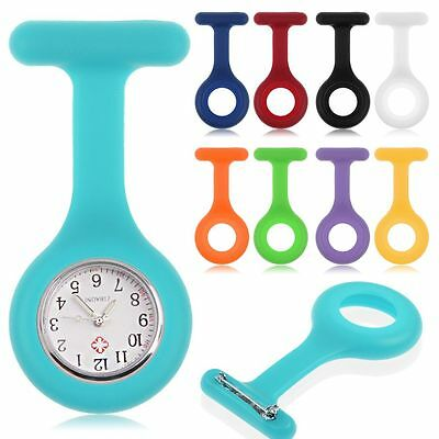 New 9 Colors Replacement Silicone Brooch Tunic Fob Pocket Nurse Watch Case Cover