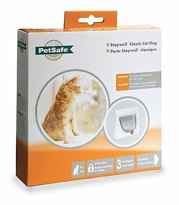 Petsafe Classic Manual 4 Way Staywell Lock Cat Flap Without Tunnel Up To 7Kg New