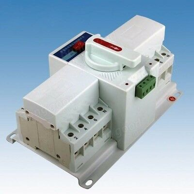 4P 63A 380V MCB Type Intelligent Dual Power Automatic Transfer Switch Transform