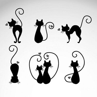"Love Cats 190m durable & sturdy Mylar Stencil - 6 x 6 "" - 8 x 8 ""- 12 x 12"""