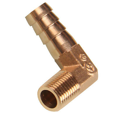 1/4 Inch NPT Male Threads x 12mm Inch Barb Elbow Fuel Hose Barb Fitting