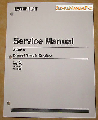 SEBR0544 NEW OEM CATERPILLAR 3406B Truck Engine Shop Service Repair Manual