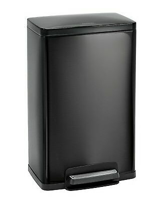 New Stainless Steel Freshener 13 Gallon Step Trash Can Tramontina Garbage Black