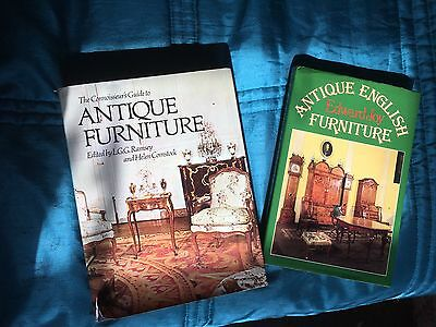 2 Antique Furniture Books, The Connoisseur, Joy, Ramsey, Comstock.