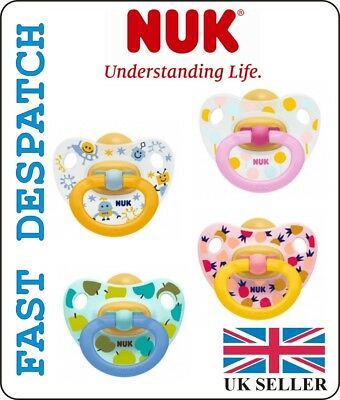 NUK SOOTHER / DUMMY SIZE 3 ( 18 - 36 months ) LATEX , ORTHODONTIC SHAPE