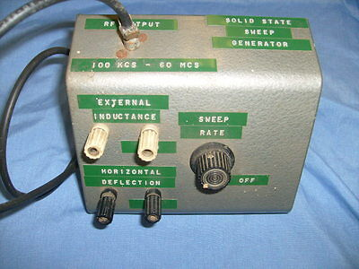 VINTAGE SOLID STATE  SWEEP GENERATOR HOME MADE FROM HAM RADIO ESTATE / s2