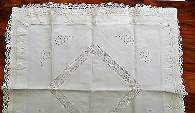 Large Continental Pillowcases/embroiidery/frilled