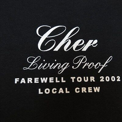 NEW CHER LIVING PROOF FAREWELL LOCAL CREW CONCERT TOUR TEE T SHIRT Mens XL