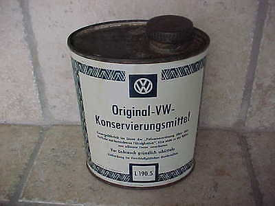 "Vintage VW Volkswagen Konservierungsmittel Cleaner 5"" Tin Oil Can & Screw Top"