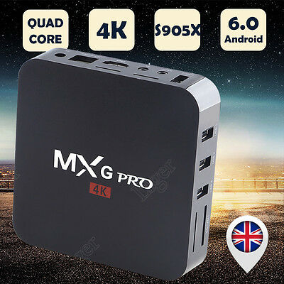 2017 S905X MX Q Pro 4K Quad Core 8GB Android 6.0 TV Box Smart WIFI Free Sports