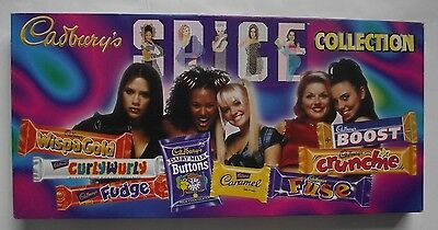 Cadbury's The Spice Girls Collection - Chocolate Selection Pack Box, 1990's Prop
