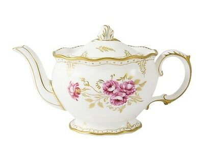 New Royal Crown Derby 1st Quality Pinxton Rose Small Teapot