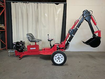 Hoc Trailerable Excavator Trencher Backhoe + 9 Hp Subaru Engine + 1 Yr Warranty