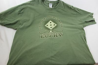 """XXL green Hootie and the Blowfish t shirt """"Looking for Lucky"""""""