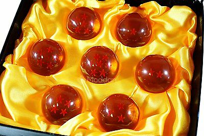7 Pieces Set DragonBall Z Stars Crystal Balls Collection JP Dragon Toy Gift Box