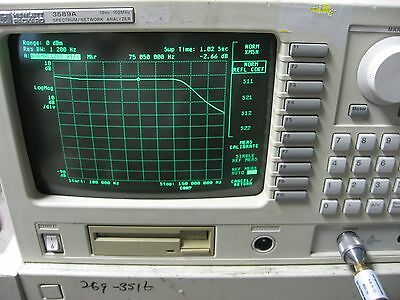 HP3589A Spectrum Network Analyzer Option 1D6 WORKS GREAT!