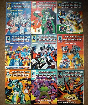 The TRANSFORMERS 1986 Collection MARVEL UK COMICS 1986 1987 Job Lot Collectables
