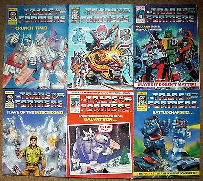 The TRANSFORMERS 1986 Collection MARVEL COMICS No.86 - No.94 Job Lot Collectable