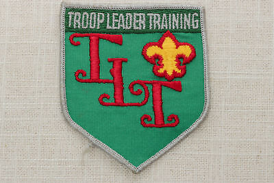 Troop Leader Training Vintage Sew On Patch Boy Scouts of America Shield TLT