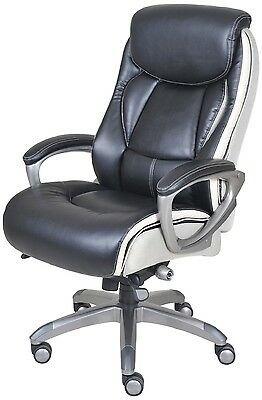 Executive Office Chair Leather Desk Seat Ergonomic Comfort Support Serta Smart