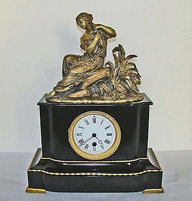A Good French Clock mounted with Bronze Statue, circa 1890