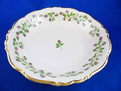Edelstein Bavaria COUPE SOUP BOWL Maria Theresia #17445 HEDGEROSE~Pink Rosebuds~