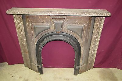 Vintage Antique Cast Iron Fireplace Mantel Art Deco Style #4007