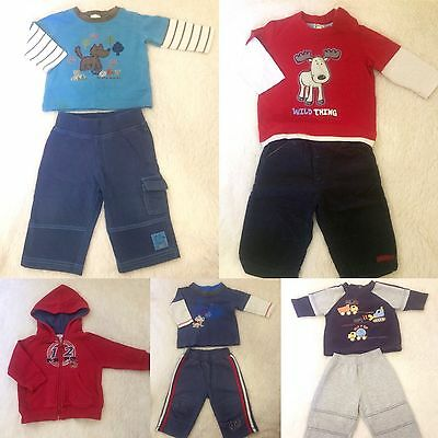 Baby Boy Winter Clothiing Lot size 00 - 9 items Blue and Red