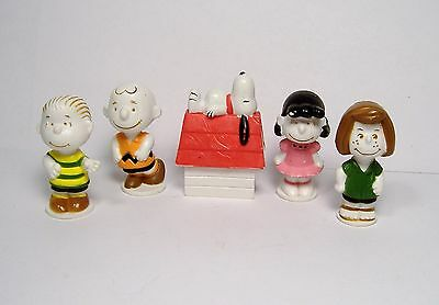 VINTAGE PEANUTS FIGURES CHARLIE BROWN SNOOPY LUCY LINUS PEPPERMINT PATTY 1960s?