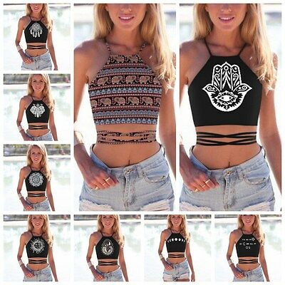 2017 Women Fashion Summer Casual Tank Tops Vest Blouse Sleeveless Crop Shirt Lot