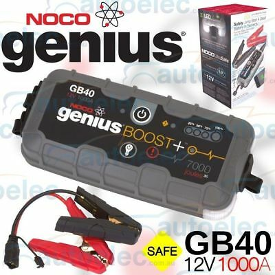 New Noco Genius 12 Volt 1000 Amp Gb40 Portable Lithium Jump Starter Booster Pack
