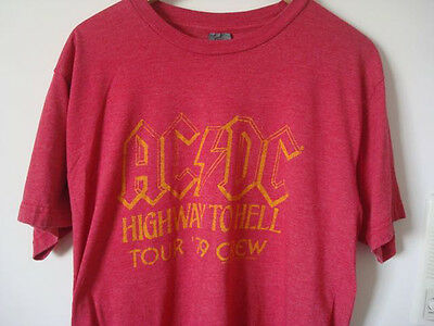 AC/DC Highway To Hell Crew Tour 1979 (Large Pre-Owned)