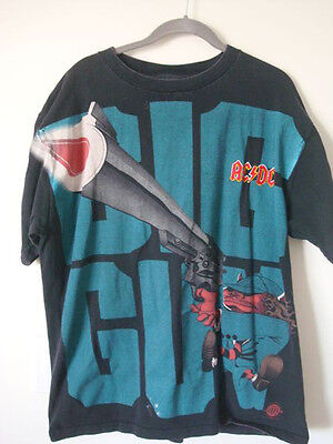 AC/DC Big Gun T-Shirt (X-Large Pre-Owned) RARE LIMITED EDITION!!