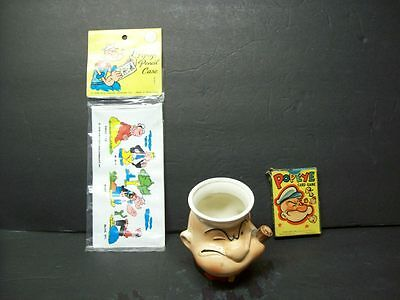 Vintage POPEYE The Sailor Collection w/Playing Cards - Cup & Wallet Unique Rare!