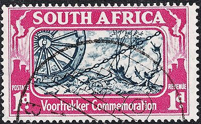 South Africa 1938 1d Voortrekker Commemoration with Three Bolts Variety Used