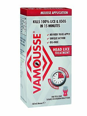 Vamousse 160 ml Head Lice Treatment Mousse Kills lice and eggs