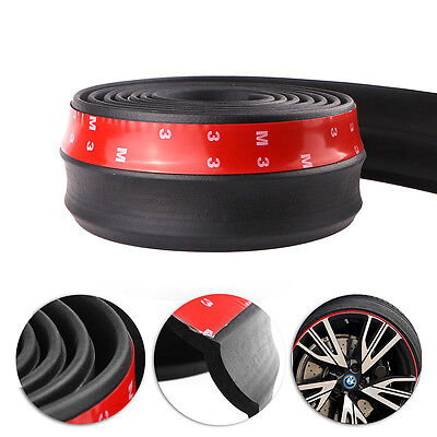 Flexible 2.5M Car Front Side Body Bumper Lip Protector Rubber Strip Stick CA