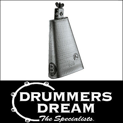 """Meinl Percussion Hammered 8"""" Bigmouth Cowbell - Steel Finish  Brand New"""